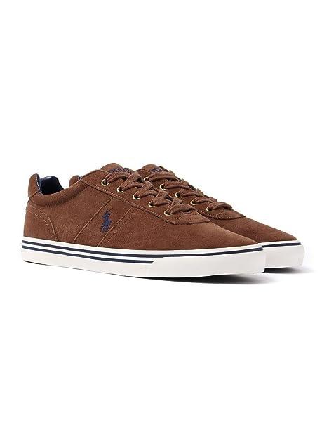 Ralph Lauren Hombres Marrón Hanford Ante Zapatillas: Amazon.es: Zapatos y complementos