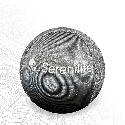 Serenilite Hand Therapy Stress Ball - Optimal Stress Relief - Great for Hand Exercises and Strengthening - FREE PDF Therapeutic Coloring Book (Titanium)