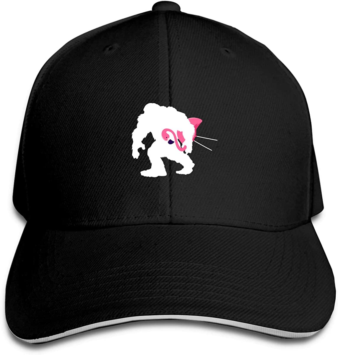 Bigfoot and Lawn Flamingo Classic Adjustable Cotton Baseball Caps Trucker Driver Hat Outdoor Cap Black