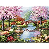"""Dimensions Gold Collection Japanese Garden Counted Cross Stitch Kit, 16""""X12"""" 16 Count"""
