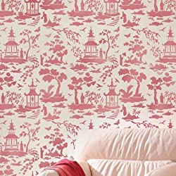 Secret Garden Toile Stencil - Trendy Stencils for DIY Home Decor - Better than Wallpaper! - Easy DIY Decor - By Cutting Edge Stencils