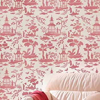 Secret Garden Toile Stencil   Trendy Stencils For DIY Home Decor   Better  Than Wallpaper!   Easy DIY Decor   By Cutting Edge Stencils