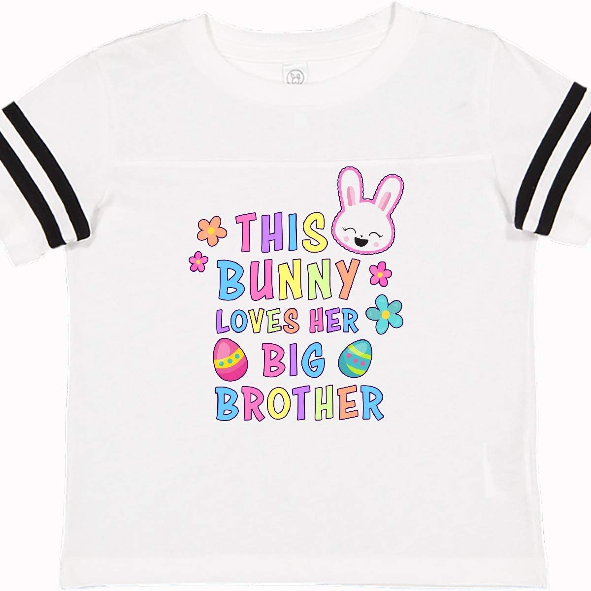 inktastic This Bunny Loves Her Big Brother with Bunny Face and Toddler T-Shirt