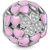 NINAQUEEN - Liebe und Klee - Damen Charm 925 Sterling Silber Nickelfrei Beads