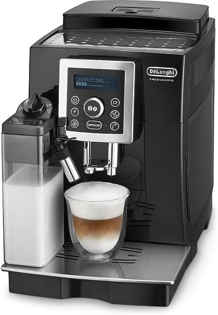 DeLonghi ECAM 23.460.B Cafetera superautomática, 1.8 L, 1450 W, 15 bares, 20 dB, acero inoxidable, negro: Amazon.es: Hogar