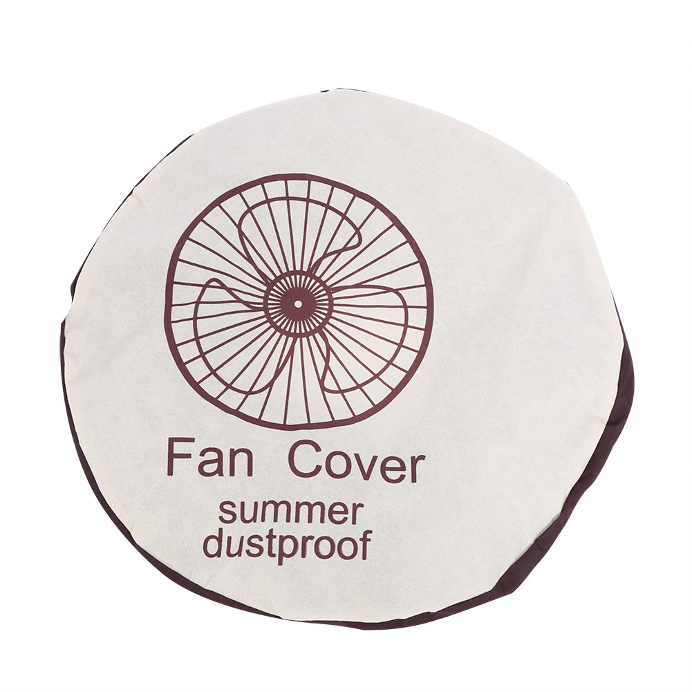 Fdit Anti Dust Fan Cover cloth Non-Woven Home Circle Storage Bag Protective Case for Home Decoration