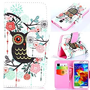 S5 Cases,S5 Wallet Case,Kaseberry Unique Book Style Leather Case with Stand,ID&Card Pocket Flip Cover for Samsung Galaxy S5