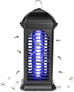 Bug Zapper, Electric Mosquito Zappers Killer, Mosquito Trap, Electronic UV Lamp for Indoor, Portable Insect Killer with 1200V Power Grid and Pest Trap, Electronic Light Bulb Lamp for Patio, Home
