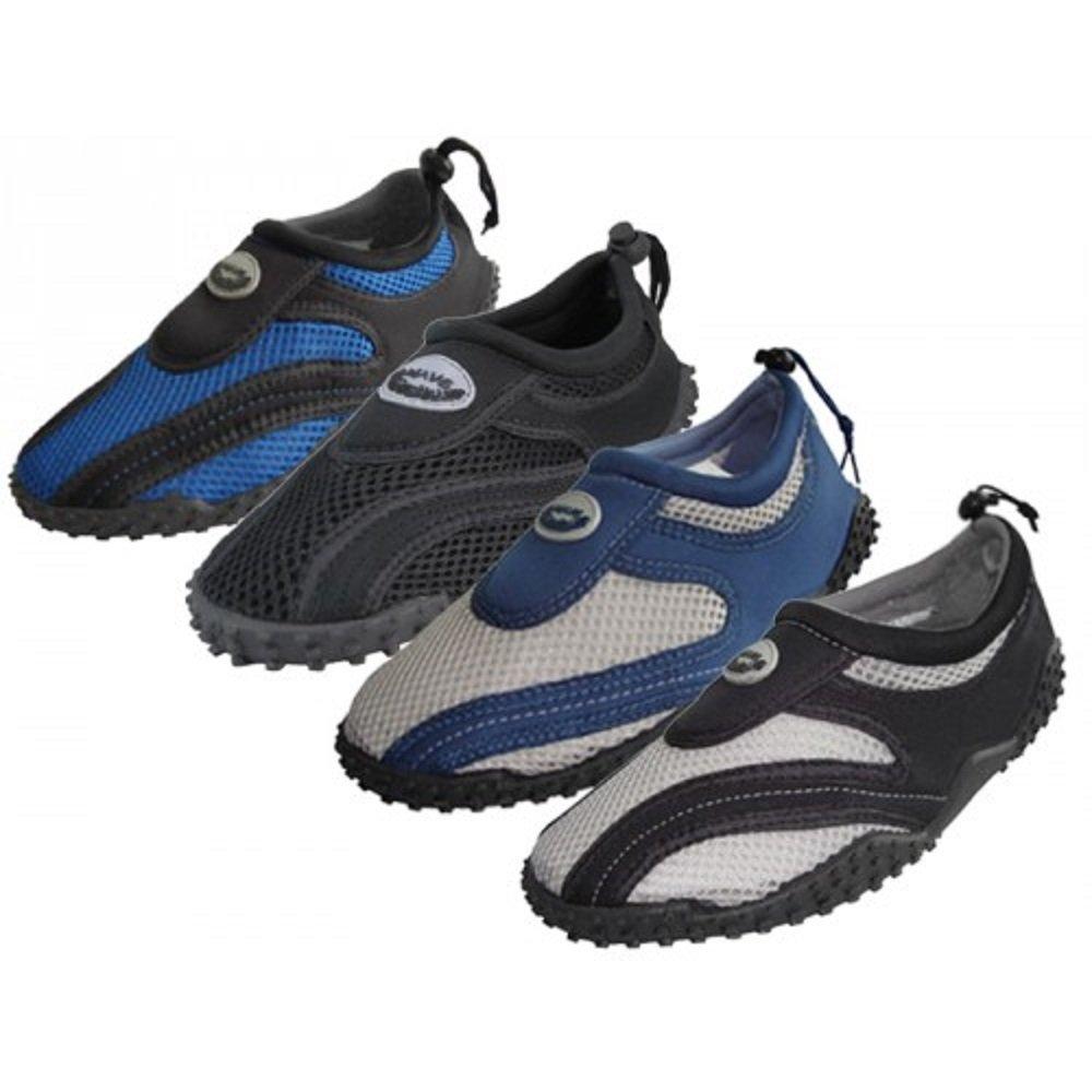 Wholesale Men's 'Wave' Aqua Socks, Water Shoes, Pool, Beach, Swimming, (9)