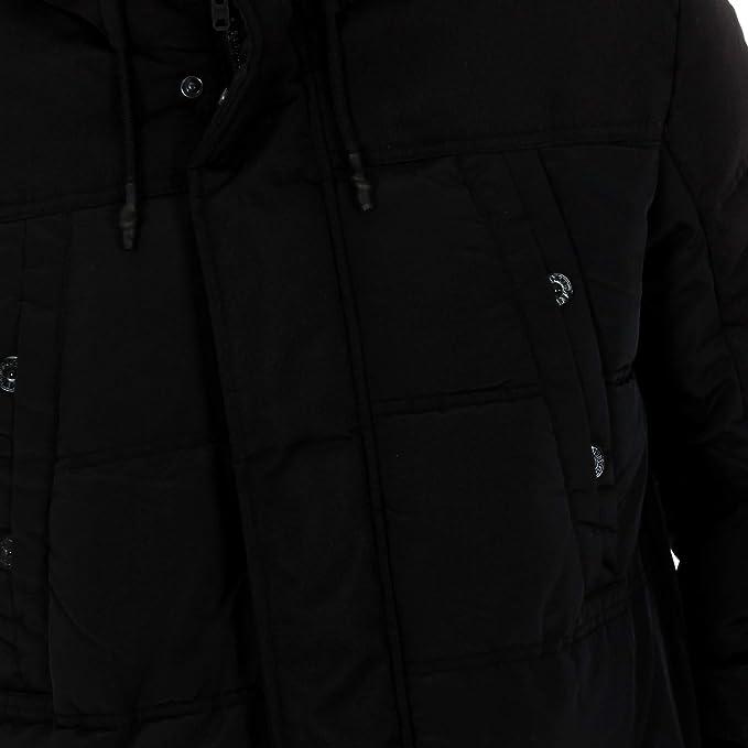 Jack /& Jones jcoderek Parka Veste D/'hiver Étanche Noir Manteau d/'hiver 12141364