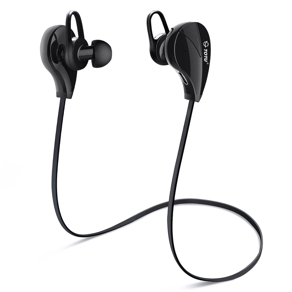 bluetooth headphones totu v4 1 stereo noise isolating sports sweatproof head. Black Bedroom Furniture Sets. Home Design Ideas
