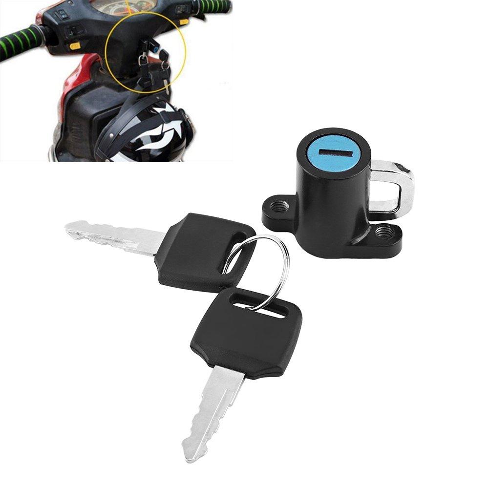 keenso universale moto casco serratura gancio con 2/tasti Set per Roller Bike