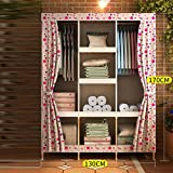LaaLaa Creative Portable Clothes Closet Wardrobe Extra Strong and Durable Portable Wardrobe Storage individual Environmental protection Non-woven Fabric Coversize:130cm170cm,A