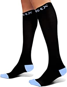 Rwest X Calcetines de compresión Medias de compresión para Hombres y Mujeres, Deporte, Trotar, Correr, Volar, Viajar, varicosas,Embarazo y médicos, Aumentar la circulación sanguínea, la regeneración