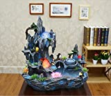 Bonsai decoration Feng Shui luck rockery and pond water fountain humidifier living room home furnishings