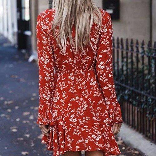 s red Cerimonia Estivo Zolimx Women Long Elegante Dress Abito vestito Lungo Vestito Vestiti Rosso xl Donna ZS7ZBr4wq