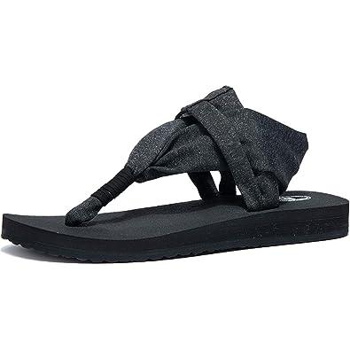 5deea06ef21 Ranberone Women s Yoga Mat Flip Flops Casual Flat Summer Beach Sandals  Slippers Size 5~13