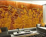 LHDLily Wallpaper Murals 3D Relief Fresco Tv Backdrop Photo Wall Murals Wallpaper Home Decoration 300cmX200cm