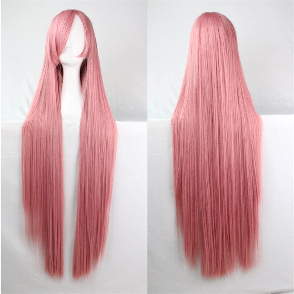 39 Womens Long Straight Synthetic Blonde Wig Girls Halloween Cosplay Party Wig