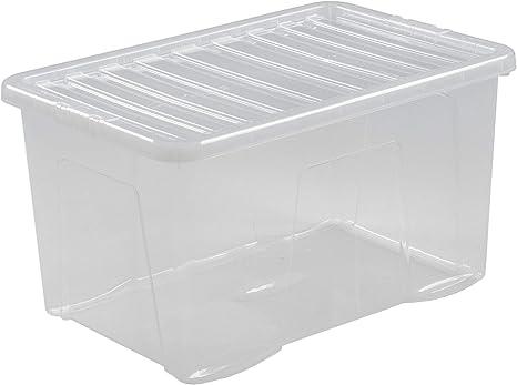 3x Aufbewahrungsbox 28 L Stapel Kiste Multifunktions Spielzeug Kiste Kunststoff