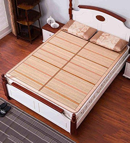 WUFENG Literie à lit pliable Matelas en bambou Matelas tissé Utilisation à double face pour l'été ( taille : 150*195cm )