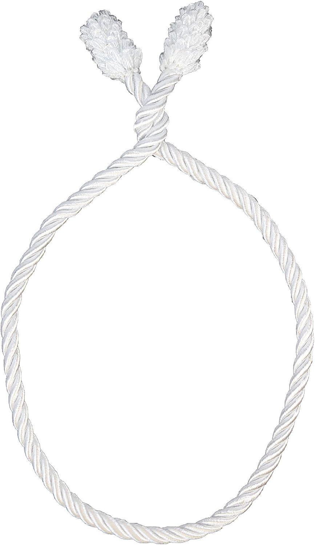 Haute Decor Decorative Twist Ties, 6 Pack, 20 inches (White)