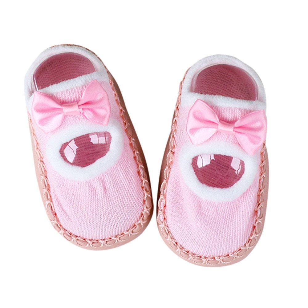 Inkach Clearance Toddler Baby Anti-Slip Slipper Floor Socks Soft Bottom Non-Slip Booties Shoes (XL, Pink)