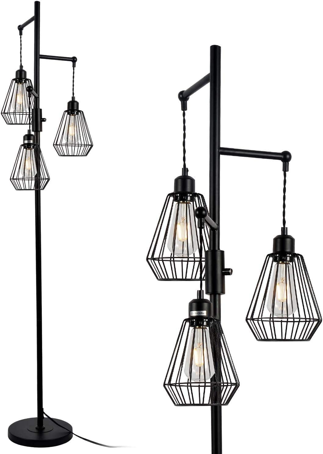 Stepeak Dimmable Cage Floor Lamp