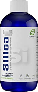 Liquid Ionic Silica - Hair, Skin & Nails Nutrition | Collagen Booster | Joint Support for Health Tendons & Cartilage | 8 oz, 48 Day Supply
