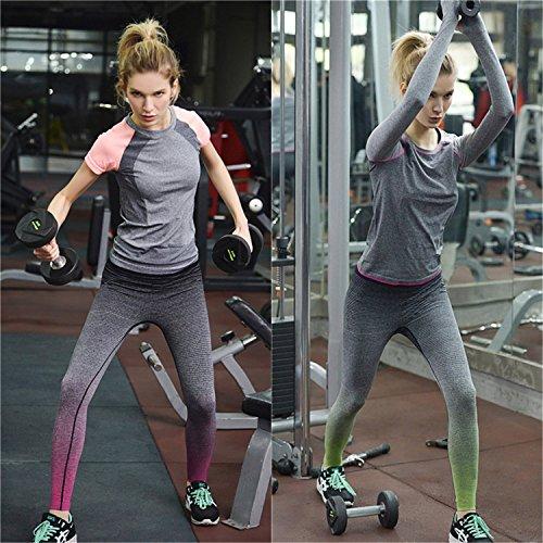 Lorata Yoga Pantalones Legging Deportivo de Mujer para Correr Deporte Gimnasio Entrenamiento verde