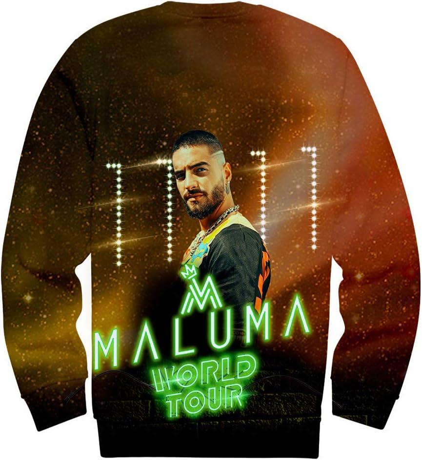 W&TT Sudadera Unisex 3D HD Print Maluma Singer Pullover ...