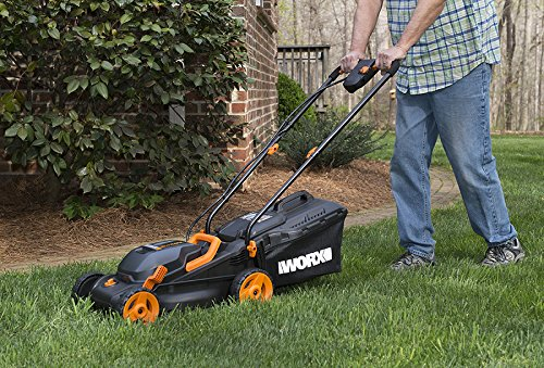 """WORX WG779 40V Power Share 4.0 Ah 14"""" Lawn Mower w/ Mulching & Intellicut (2x20V Batteries) 4 Dual 20V Power Share batteries deliver 40V of Maximum Power and Performance Patented intellicut technology delivers Power on demand save Your battery for when you Really need it Foam padded handles provides a comfortable grip for reduced fatigue while cutting"""