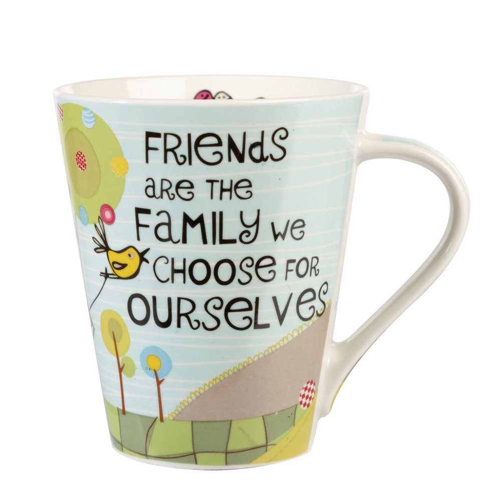 The Good Life Friends Are Family Flight Mug, Multi-Colour: Amazon.co ...