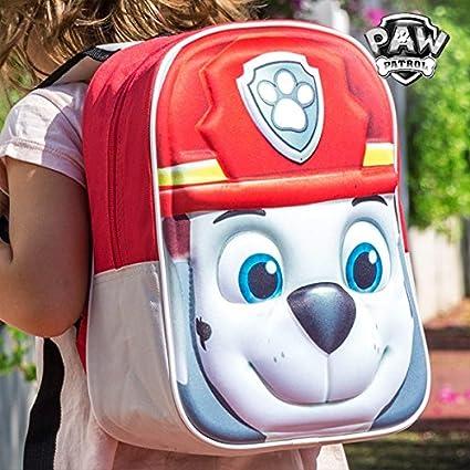Cartable sac à dos scolaire 3D PAW PATROL MARCUS: Amazon.fr ...