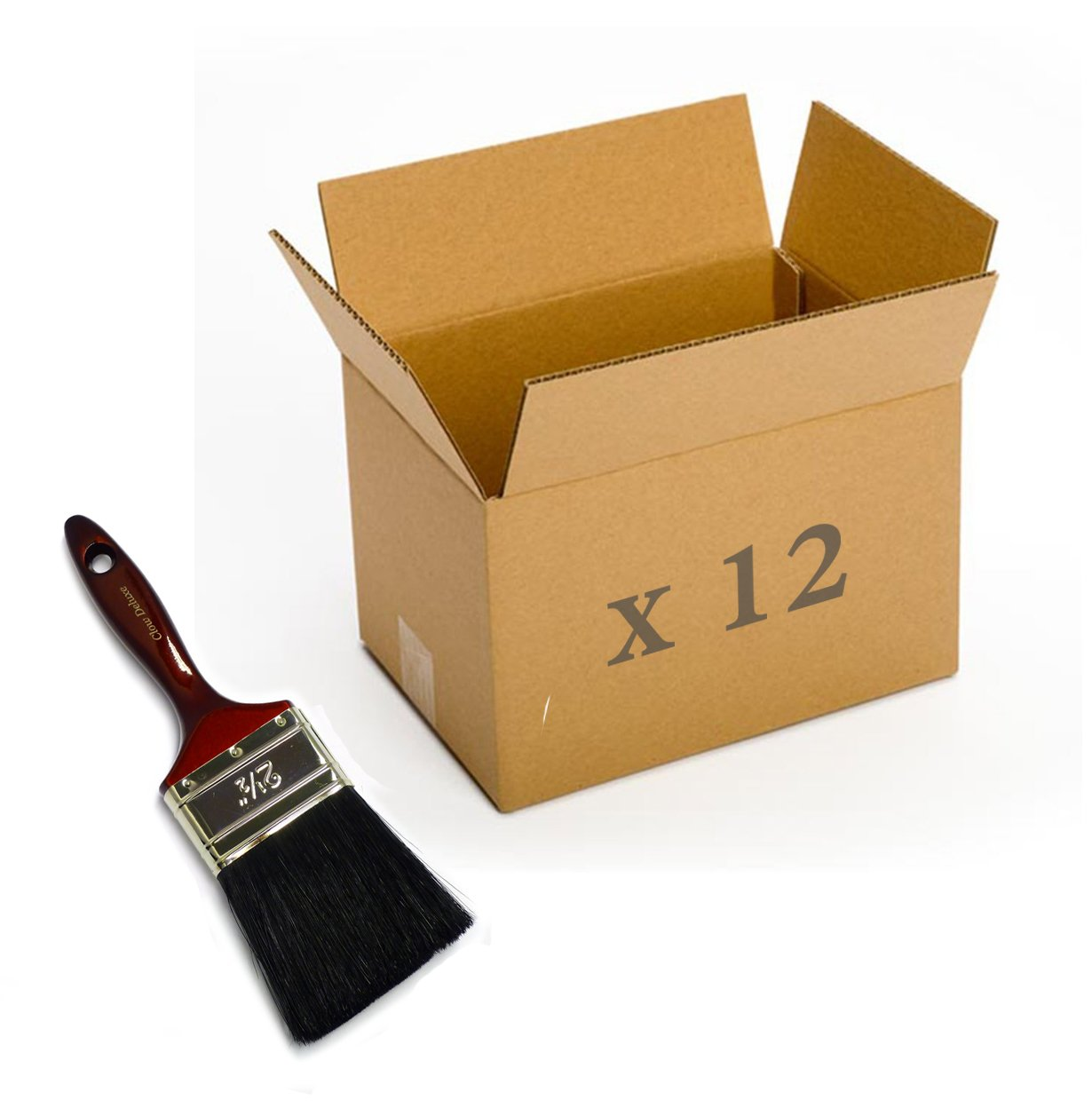 Box of 12 Clow Deluxe Bristle Paintbrushes 2½ ''