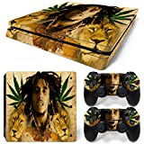 CSBC Skins Sony PS4 Slim Design Foils Faceplate Set - Bob Marley Design