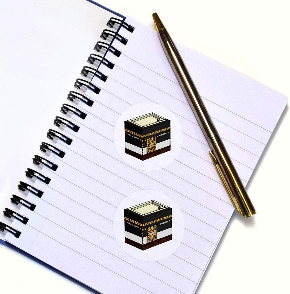 Azeeda 24 x 40mm Ronds Kaaba Autocollants SK00018455