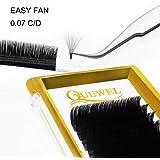 Volume Eyelash Extensions Thickness 0.07 D Curl 8-15mm Mix Premade Fans 2D 3D 4D 5D 6D 20D Easy Fan Lash Self Fanning|Optinal Thickness 0.05/0.07/0.10/0.12 C/D Curl Single 8-18mm Mix 8-15mm|