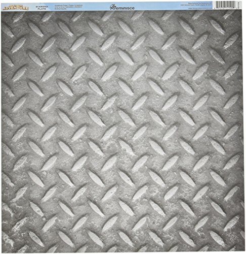 "Reminisce WOA-009 25 Sheet Diamond Plate Worlds of Adventure Double-Sided Cardstock, 12"" by 12"", Multicolor"