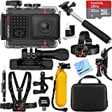Garmin VIRB Ultra 30 HD 4K Bluetooth Action Camera with Built-in GPS + 32GB Outdoor Adventure Mounting Bundle