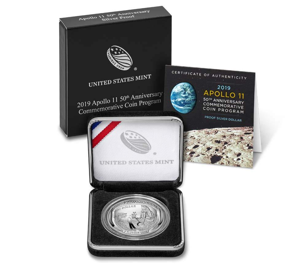 2019 P $1 Apollo 11 50th Anniversary Commemorative Silver Dollar COIN ONLY