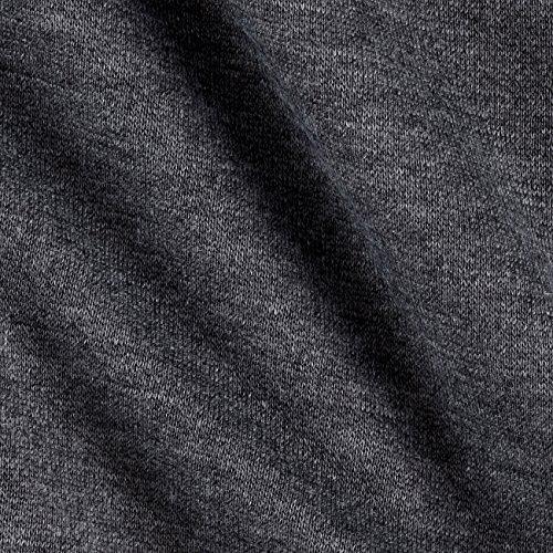 Richland Textiles Sweatshirt Fleece Charcoal Fabric By The Yard, (Cotton Fleece Fabric)
