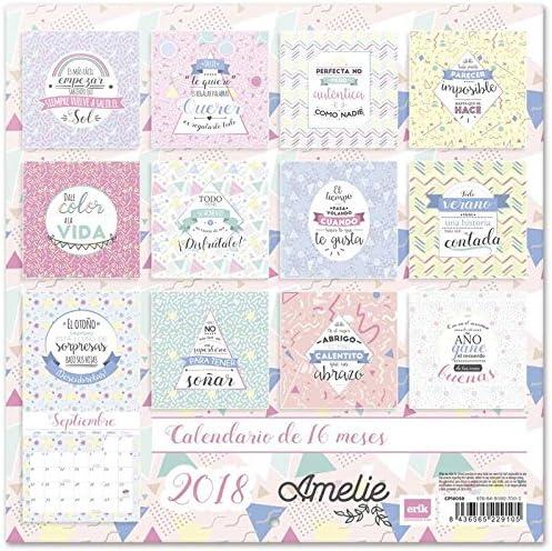 Grupo Erik Editores Calendario 2018 30X30 Amelie: Amazon.es ...