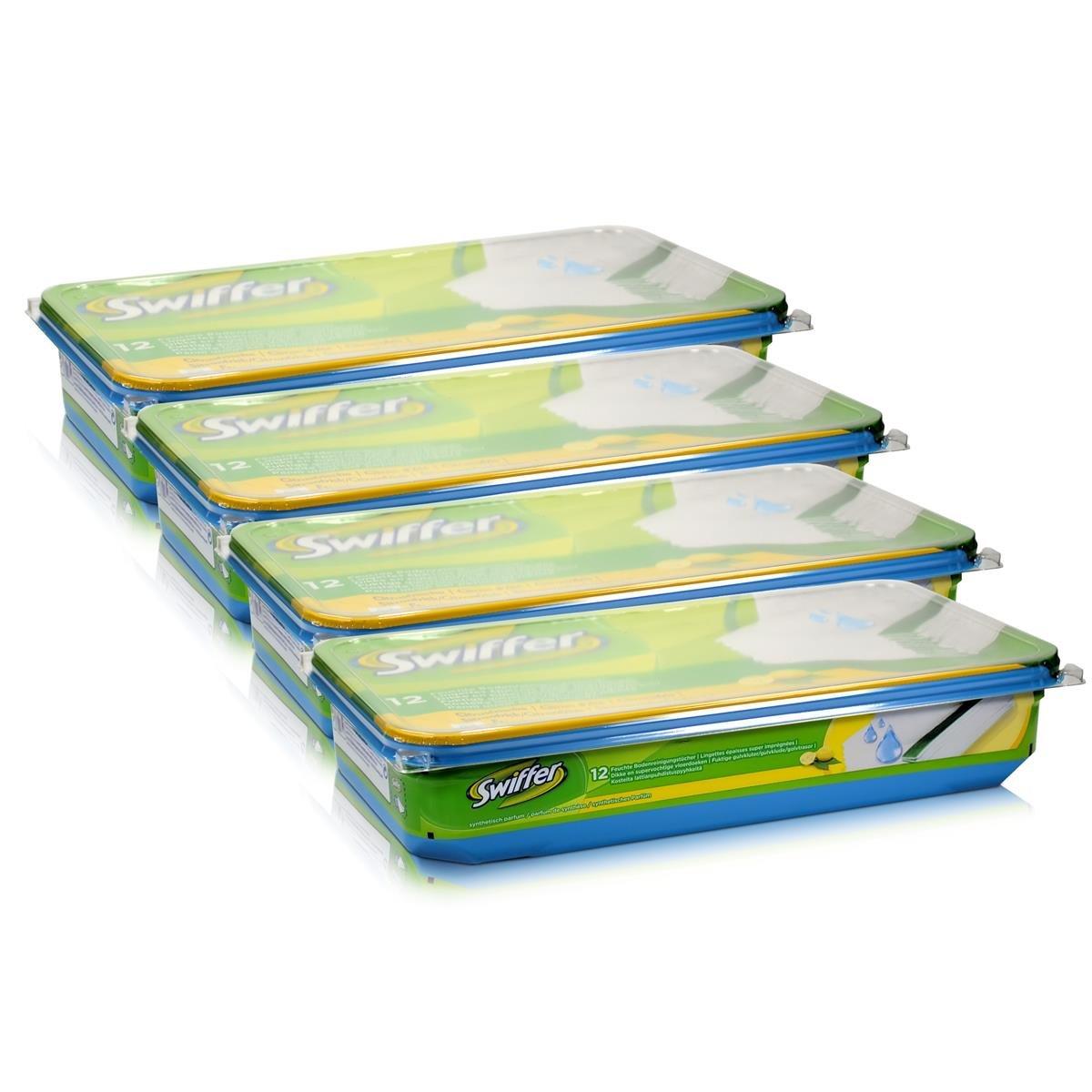 Swiffer 4 confezioni da 12 panni umidificati