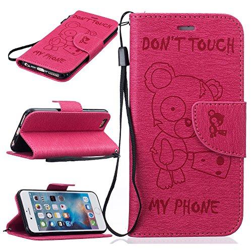 iPhone 6 6S (4,7 Zoll) Custodia in Pelle Protettiva Flip Cover per iPhone 6 6S (4,7 Zoll) Snap-on Magnetico Bookstyle TPU Case - Cozy Hut Fatto a Mano Custodia Wallet Protettiva Portafoglio Stand Case