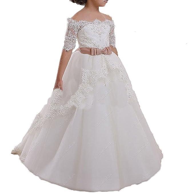 Amazon.com: yesdo Color Blanco Marfil País Flor de encaje ...