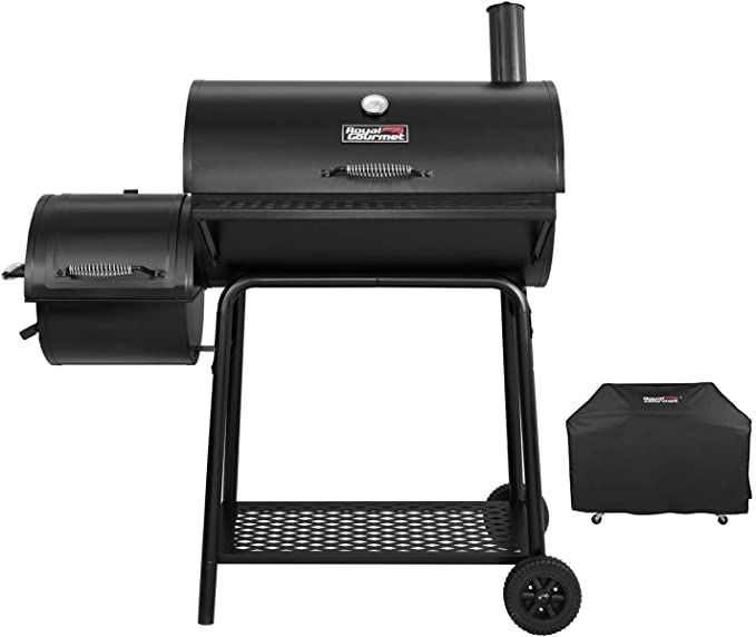 Amazon.com: Royal Gourmet CC1830F-C 90-00-0 Charcoal Grill with Offset Smoker, Black: Garden & Outdoor