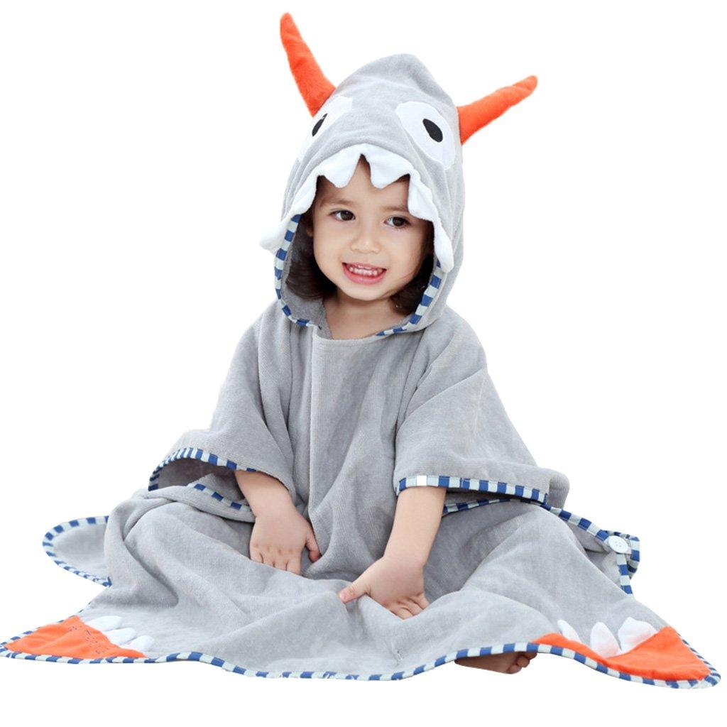 Accappatoio per Bambini, Asciugamani da Bagno Bambini con cappuccio Ragazzi Ragazze Poncho Nuoto Coperte Teli Mare 0-6 Anni