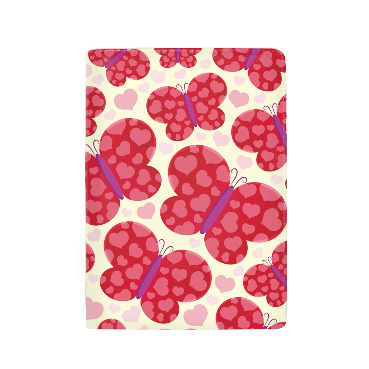 Colorful Leaves Pattern Protective Premium Leather RFID Blocking Wallet Case for Passport Passport Holder Case