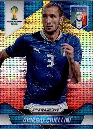 2014 Panini Prizm World Cup Prizms Yellow and Red Pulsar #125 Giorgio Chiellini - - Yellow Giorgio